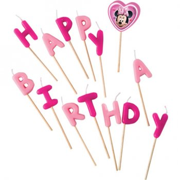 14 Petites Bougies Happy Birthday Minnie Happy (7 cm)