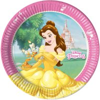 Contient : 1 x 8 Assiettes Princesses Disney Loving