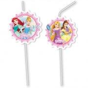6 Pailles Médaillons Princesses Disney Loving