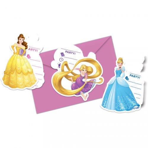 6 Invitations Princesses Disney Loving