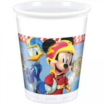 8 Gobelets Mickey et Donald Racing