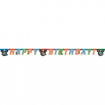 Guirlande Happy Birthday Mickey et Donald Racing