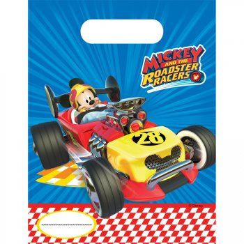 6 Pochettes Cadeaux Mickey Racing