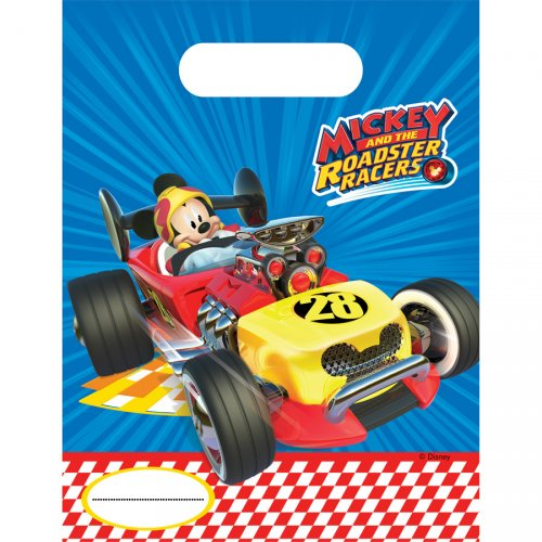 6 Pochettes Cadeaux Mickey Racing