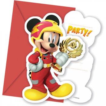 6 Invitations Mickey Racing