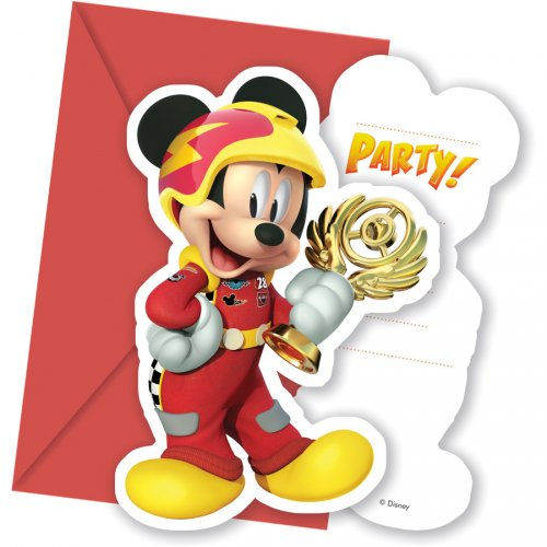 6 Invitations Mickey Racing