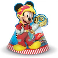 Contient : 1 x 6 Chapeaux Mickey Racing