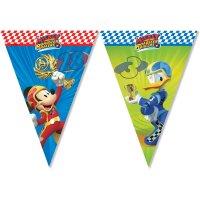 Contient : 1 x Guirlande Fanions Mickey et Donald Racing