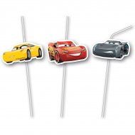 6 Pailles médaillons Cars 3