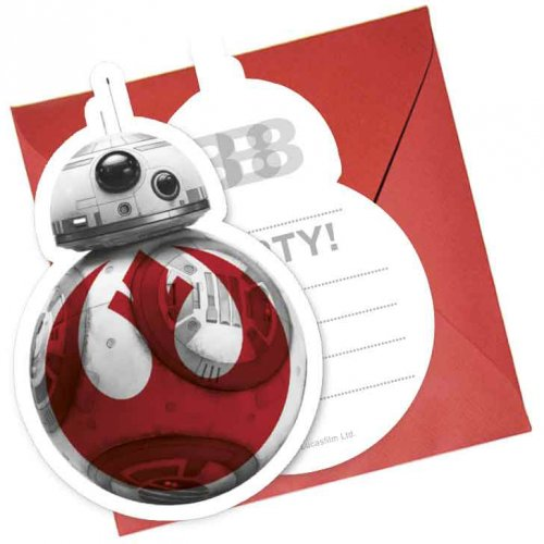 6 Invitations Star Wars Last Jedi