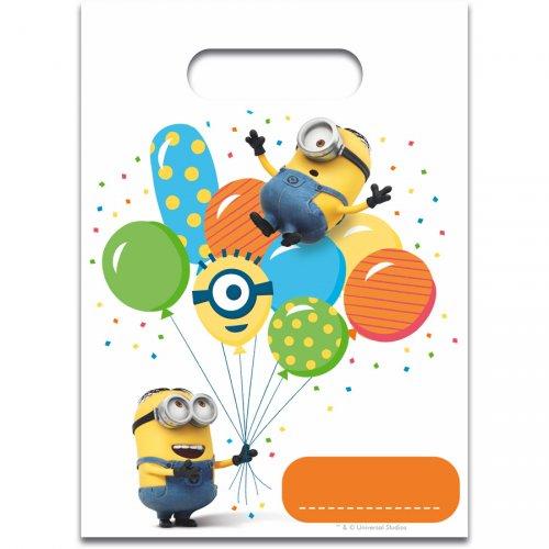 6 Pochettes Cadeaux Minions Ballons