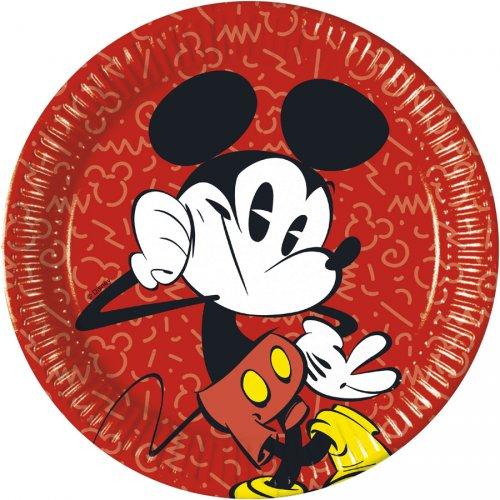 8 Assiettes Mickey Super Cool
