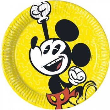 8 Petites Assiettes Mickey Super Cool