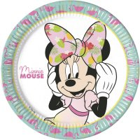 Contient : 1 x 8 Assiettes Minnie Tropical