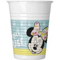 Contient : 1 x 8 Gobelets Minnie Tropical