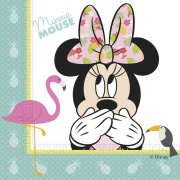 20 Serviettes Minnie Tropical