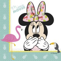 Contient : 1 x 20 Serviettes Minnie Tropical