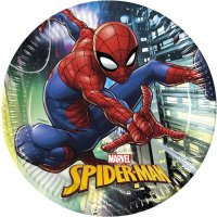 Contient : 1 x 8 Assiettes Spiderman Team