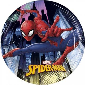 8 Petites Assiettes Spiderman Team