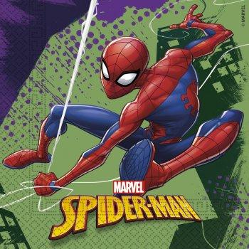 20 Serviettes Spiderman Team