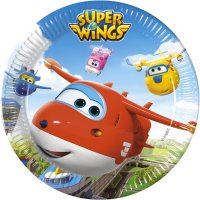 Contient : 1 x 8 Assiettes Super Wings