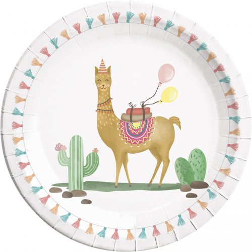 8 Assiettes Lama Birthday