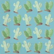 20 Serviettes Cactus Lama Birthday