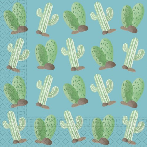 20 Serviettes Cactus Lama Birthday