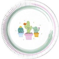 Contient : 1 x 8 Assiettes Cactus Kawaïï