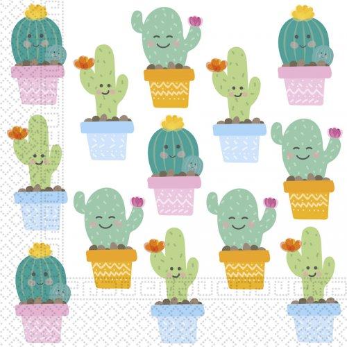20 Serviettes Cactus Kawaïï