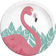 8 Assiettes Flamingo Birthday