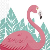 Contient : 1 x 2 Serviettes Flamingo Birthday