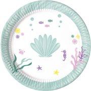 8 Assiettes Coquillages Sirène