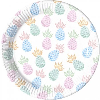 8 Assiettes Sweet Ananas