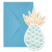 6 Invitations Sweet Ananas