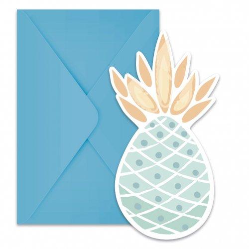 6 Invitations Sweet Ananas