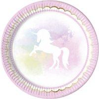 Contient : 1 x 8 Assiettes Licorne Dream