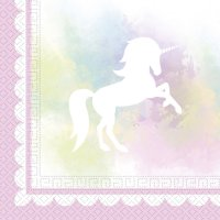 Contient : 1 x 20 Serviettes Licorne dream