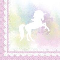 Contient : 1 x 2 Serviettes Licorne Dream