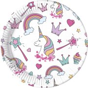 8 Assiettes Licorne Magic Party