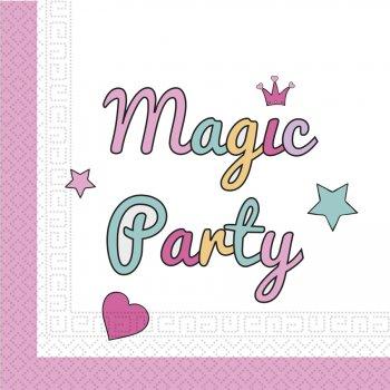 20 Serviettes Licorne Magic Party
