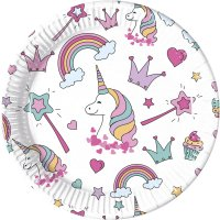 Contient : 1 x 1 Assiette Licorne Magic Party