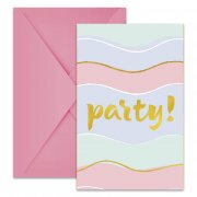 6 Invitations Sweet Party