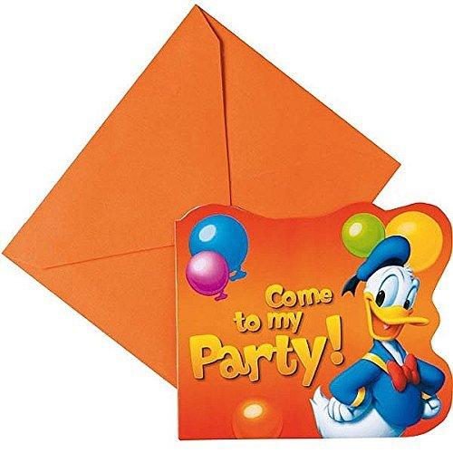 6 Invitations Donald Party