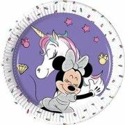 8 Petites Assiettes Minnie Licorne