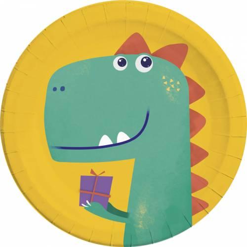8 Assiettes Dino - Compostables