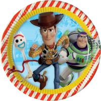 Contient : 1 x 8 Assiettes Toy Story 4