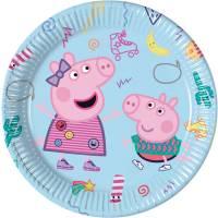 Contient : 1 x 8 Assiettes Peppa Pig Fun