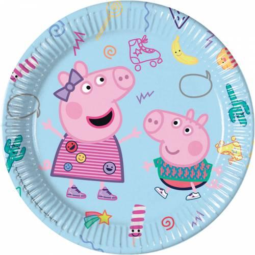 8 Assiettes Peppa Pig Fun
