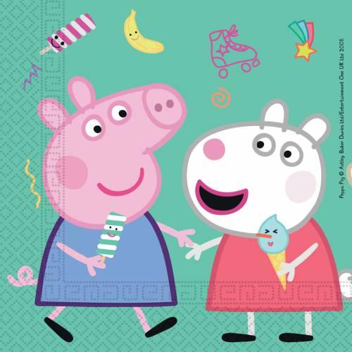 20 Serviettes Peppa Pig Fun